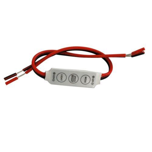2PCS Mini controller dimmer 12V144W 3 key for led strip lights single 5050 3528