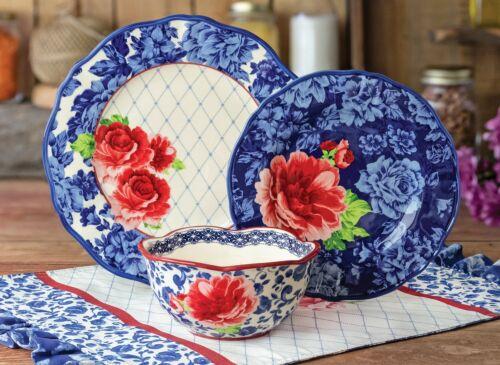 Dinnerware Set Pioneer Woman Heritage Floral 12-Piece Dinnerware Set Dinner