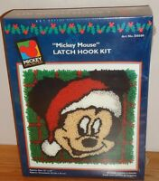 Mickey Mouse Christmas Latch Hook Kit Mickey Unlimited 13 X 13 Caron
