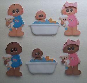 3D-U-Pick-Baby-Girl-Boy-Bath-Teeth-Potty-Scrapbook-Card-Embellishment-BTH2