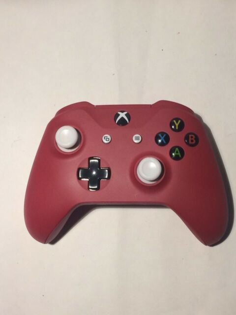 Microsoft Xbox One X and S Wireless Controller -Matte Red ( Paint ) +batteries