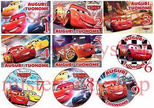 Cialda-Ostia-per-torte-Cars-3-Anche-tonda-e-personalizzabile-Anche-A3