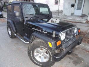 Jeep tj 2005 2.4 li 4cyl 6vit tres propre Var bien $ 8500