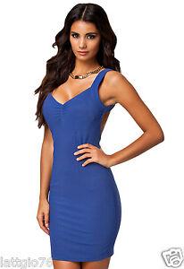 Caricamento dell immagine in corso Mini-abito-donna-aderente-vestito -corto-vestitino-scollato- 9031441c880