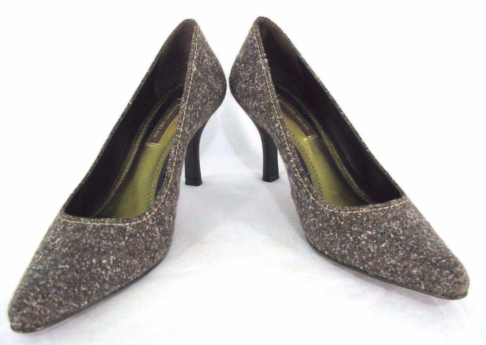 Antonio Melani Shoes 7M Pumps Brown Fleck