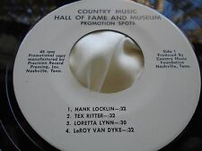 Rare Spoken Word Country 45 : Country Music Hall of Fame and Museum ~ Promo