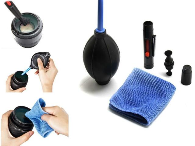 BUAU 3 in 1 Lens Cleaning Cleaner Dust Pen Blower Cloth Kit For DSLR VCR Camera
