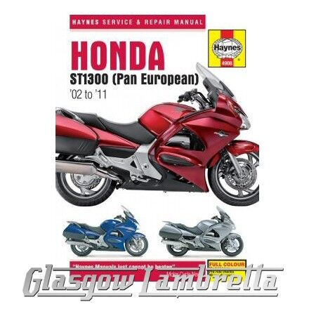 Haynes Service Manual 4908 HONDA ST1300 /A Pan European (2002 - 2011) + stickers