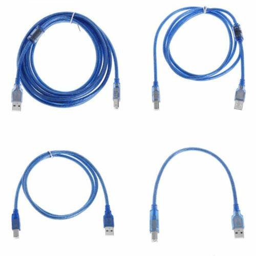 USB 2.0 Printer Cable Type A Male to Type B Male Dual Shielding for 0.3//1//1.5//3M