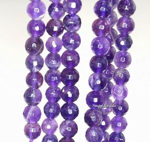6mm royal amethyst gemstone purple faceted round 6mm loose beads 7 5