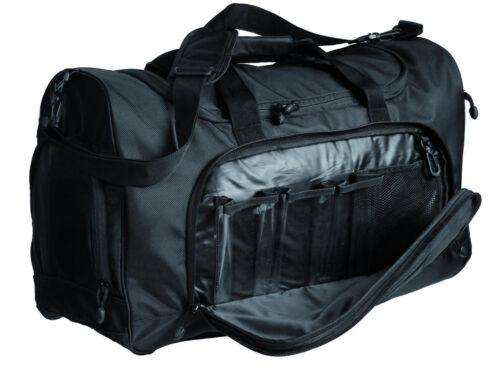 schwarze Sporttasche Einsatztasche Sport Bag Schultertragetasche mit Naßfach