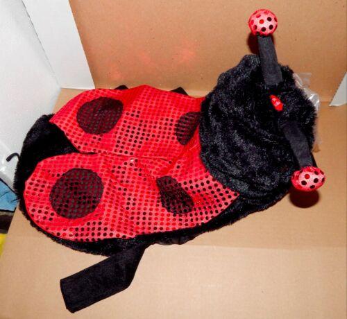"Halloween Pet Costume Ladybug Light Up Eyes Lg Fits 18/"" To 21/"" Dog Belly Ext 70K"