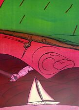 """Valerio Adami  """"En Solitaire"""" 1984  HAND SIGNED NUMBERED LIM.ED  LITHOGRAPH"""