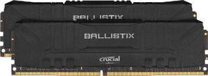 MEMORIA RAM CRUCIAL BALLISTIX KIT 16GB DDR4 3200MHz CL16 BL2K8G32C16U4B NERO