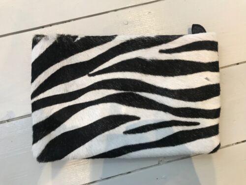 italiana Camomilla zebra borsa scamosciata pelle pelliccia stampa e vera in pochette xPEqOpPw