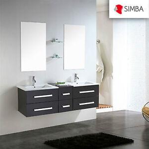 Muebles para baño para cuarto de baño espejo baño 150 cm ROME grifo ...