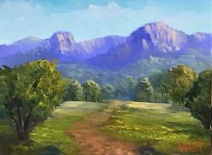 Virgin-rock-Springsure-QLD-Oil-on-linen-board-Australian-landscape-Vidal