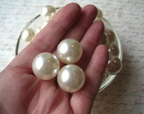 18mmPearl Beads Round Centerpieces Wedding Decoration Vase Filler-4 oz