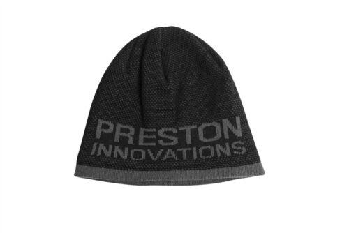 Preston Innovations Noir//Gris Bonnet Pêche Vêtements Outdoors coiffure NEUF