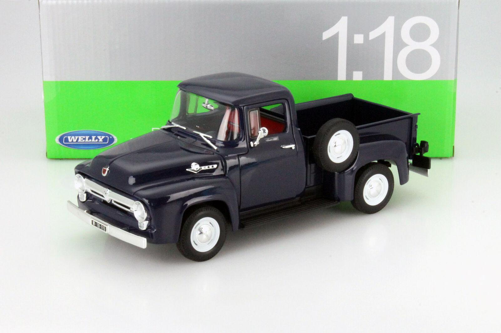 Ford F 350 Pick up schwarz 1999 1:24 Welly  Modellauto 22081