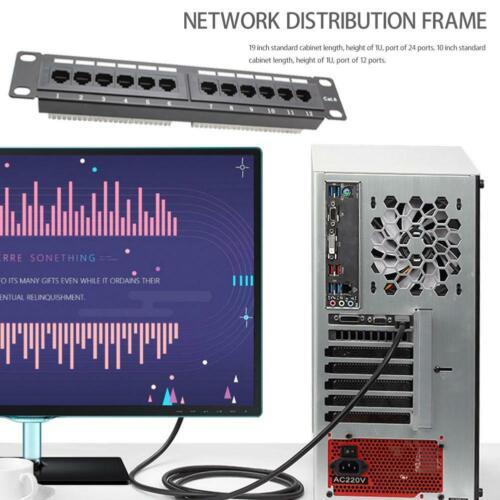 12 Port CAT6 Patch Panel RJ45 Networking Wall Mount Rack Bracket  GL-4013