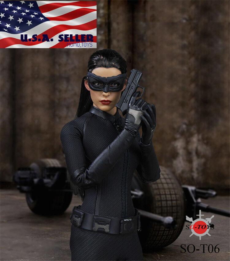 1 6 Scale Catwoman Head Sculpt Costume Set For 12  Phicen Hot Toys Female Figure