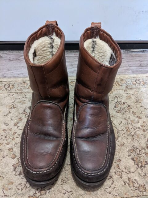 Russell Moccasin Boot Brown Pull-on Boots Size 9.5
