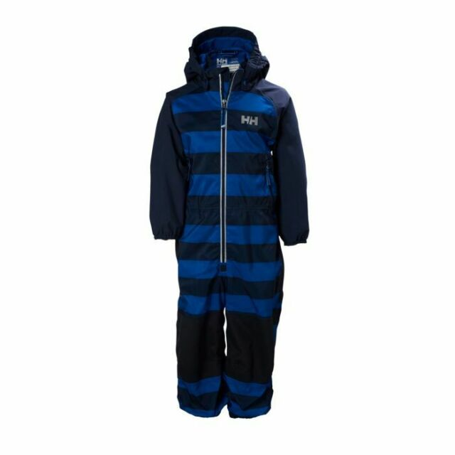 d6edaa50a20 NWT$150 Helly Hansen Waterproof Shelter Playsuit Blue Stripe Boys Sz 104 -  4/4T