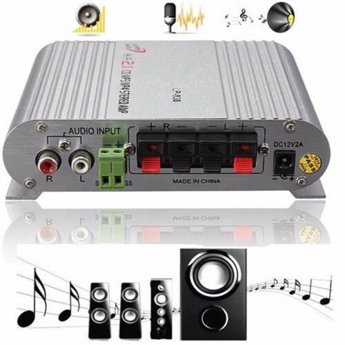 Hifi Cd Mp3 Radio Car Home Audio Stereo Bass Speaker Amplifier Booster 12V 200W