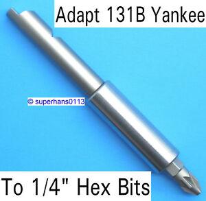 """Hex Bit Adaptor for Yankee Srewdrivers 8mm 5//16/"""""""