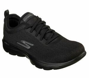 Women-Casual-Skechers-Black-Shoes-Sport-Comfort-Slip-On-Soft-Mesh-Go-Walk-15736