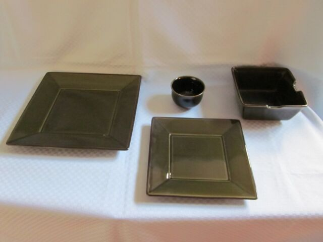 Pottery Barn Asian Square Dark Green Dinnerware Choice Ebay