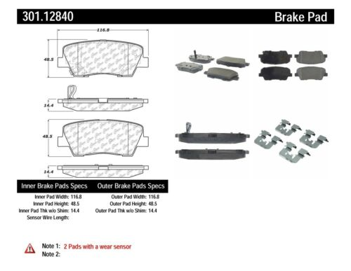 Disc Brake Pad Set fits 2007-2017 Kia Sedona K900 Borrego  CENTRIC PARTS