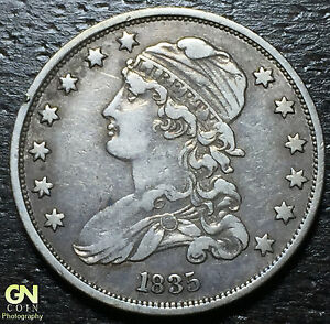 1835-Capped-Bust-Quarter-PRICED-TO-SELL-W1982-ZXCV