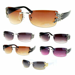 new sunglasses design  Butterfly Design Women\u0026#039;s Fashion Sunglasses Rimless Black New ...