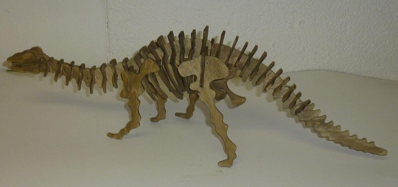 Dinosaurier Dinosaurier Dinosaurier aus Holz gefertigt & handbemalt Breite 50 cm Modell Spielzeug 3d505f
