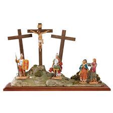 arte religiosa FONTANINI scena vita di cristo - crocifissione presepe pastori