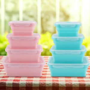 Silicone-Food-Portable-Lunch-Box-Bento-Folding-Collapsible-Storage-Container-OS