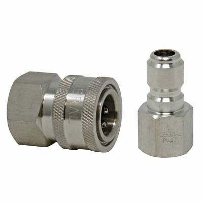 Quick Connect Fittings >> Gp 3 8 5000 Psi Stainless Steel Quick Connect Fittings 1 Plug And 1 Socket Ebay
