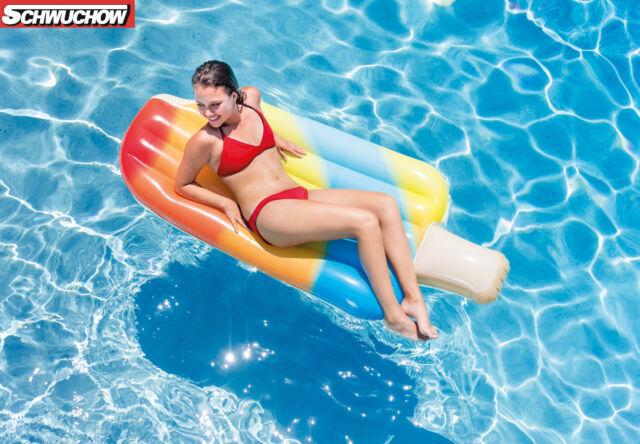 Intex Glace Cool Me Bas Lounge Matelas Pneumatique Pool Sur Tige Siège Flottant