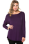 Women-039-s-Basic-Long-Sleeve-Tunic-Round-Neck-Solid-Soft-Jersey-Pullover-Top-Shirt thumbnail 15
