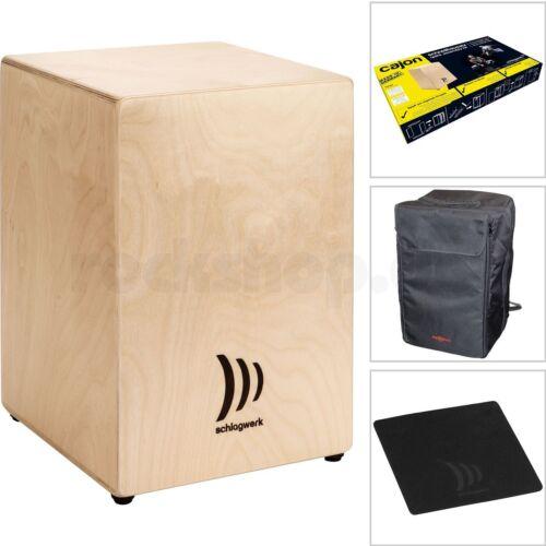 Schlagwerk My Cajon CBA1S Schnellbausatz Bausatz mit Tasche Sitz Pad Spanngurt