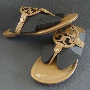 Tory-Burch-Miller-8-5-Patent-Sand-Thong-Logo-Sandal-Flip-Flop-Toe-Post-50008647