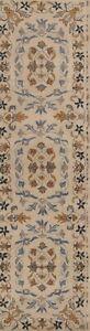 New-Hand-Tufted-Floral-Ivory-Runner-3x10-Kaashan-Agra-Oriental-Rug-9-039-8-034-x2-039-6-034