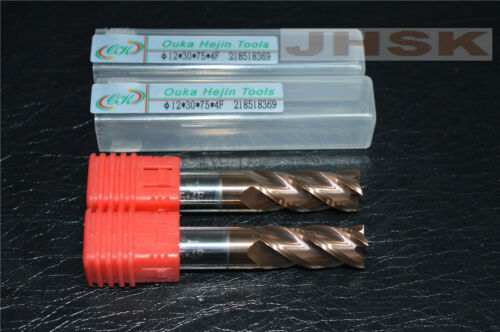 HRC60° φ12×30×75×4F  Carbide End Mill Bits Milling Cutter 12mm 4-Flutes (1pcs)