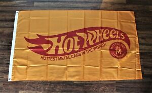 New-Hot-Wheels-Banner-Flag-3x5-Hottest-Metal-Cars-in-the-World-Man-Cave-Retro