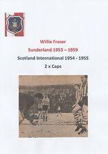 WILLIE FRASER SUNDERLAND 1953-1959 RARE ORIGINAL HAND SIGNED NEWSPAPER CUTTING