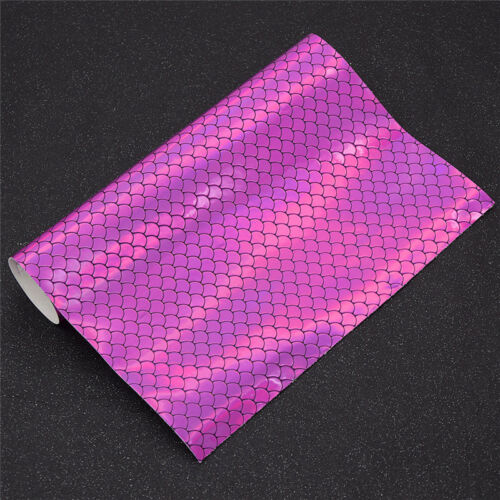 29x21cm Fish Scales Design Fabric DIY Sewing Supplies Leather Craft Patchwork 1x