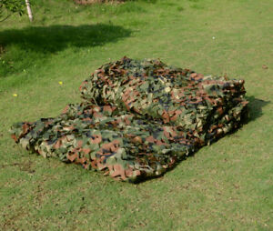 2-X-4M-Military-Camouflage-Net-Woodlands-Leaves-Camo-Cover-For-Camping-Hunting
