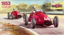 1953 Ascari winning Bremgarten F1 Cover hand signed ERIC THOMPSON Aston Martin